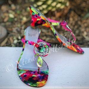 IMPO Multi-colored Floral FlipFlop Sandal